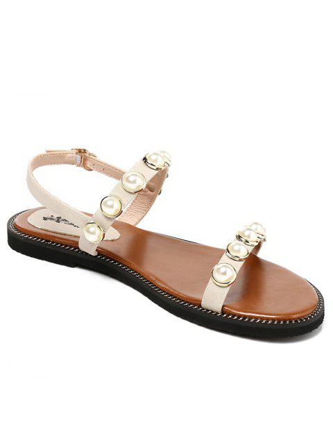Lanbaoli Flat Heel Casual Sandals for Holiday - BEIGE 36