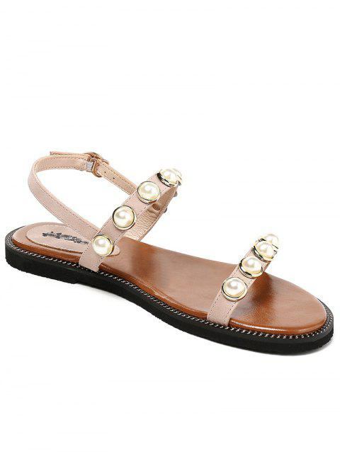 Lanbaoli Flat Heel Casual Sandals for Holiday - VIOLET 35