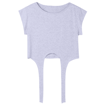 Tie Front Cropped Tee - GRAY XL