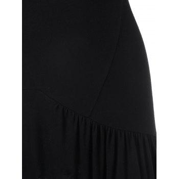 Drop Waist Sleeveless Tunic T-shirt - BLACK L
