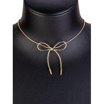 Plating Necklace with Bowknot - GOLD
