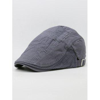 Line Embroidery Breathable Ivy Hat - GRAY