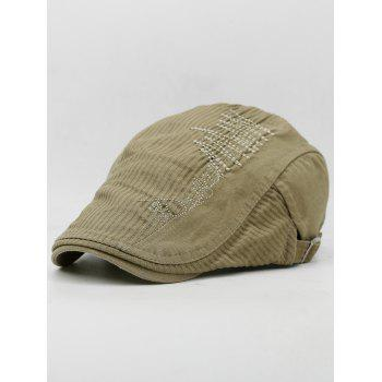 Line Embroidery Breathable Ivy Hat - CAMEL BROWN