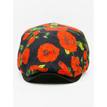 Romantic Rose Breathable Ivy Hat - BLACK