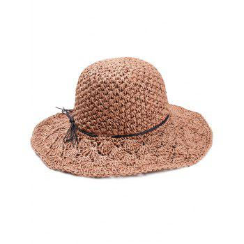 Foldable Summer Oversized Straw Hat - TIGER ORANGE