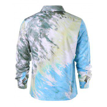 Tie Dye Button Up Shirt - COLORMIX XL