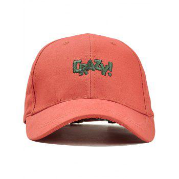 Outdoor CRAZY Embroidery Snapback Hat - ORANGE