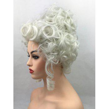 Short Curly Court Hairstyle Party Synthetic Cosplay Wig - BEIGE
