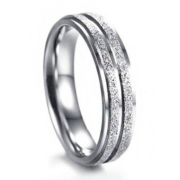 Stainless Steel Doubled Circle Finger Ring - SILVER 10