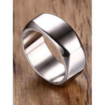 High Polished Alloy Band Ring - SILVER 9