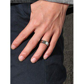 High Polished Alloy Band Ring - SILVER 11