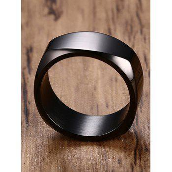 High Polished Alloy Band Ring - BLACK 12
