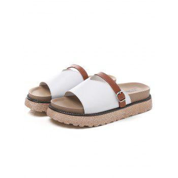 Lanbaoli Slip On Platform Outdoor Casual Slippers - WHITE 36