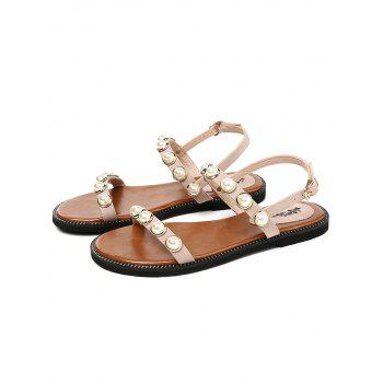 Lanbaoli Flat Heel Casual Sandals for Holiday - VIOLET 37