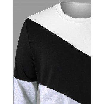 Crew Neck Color Block Sweatshirt - COLORMIX XL