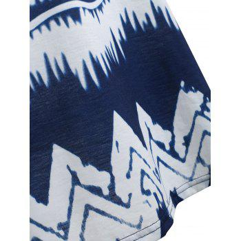 Zigzag Printed Tank Top - DARK SLATE BLUE 2XL