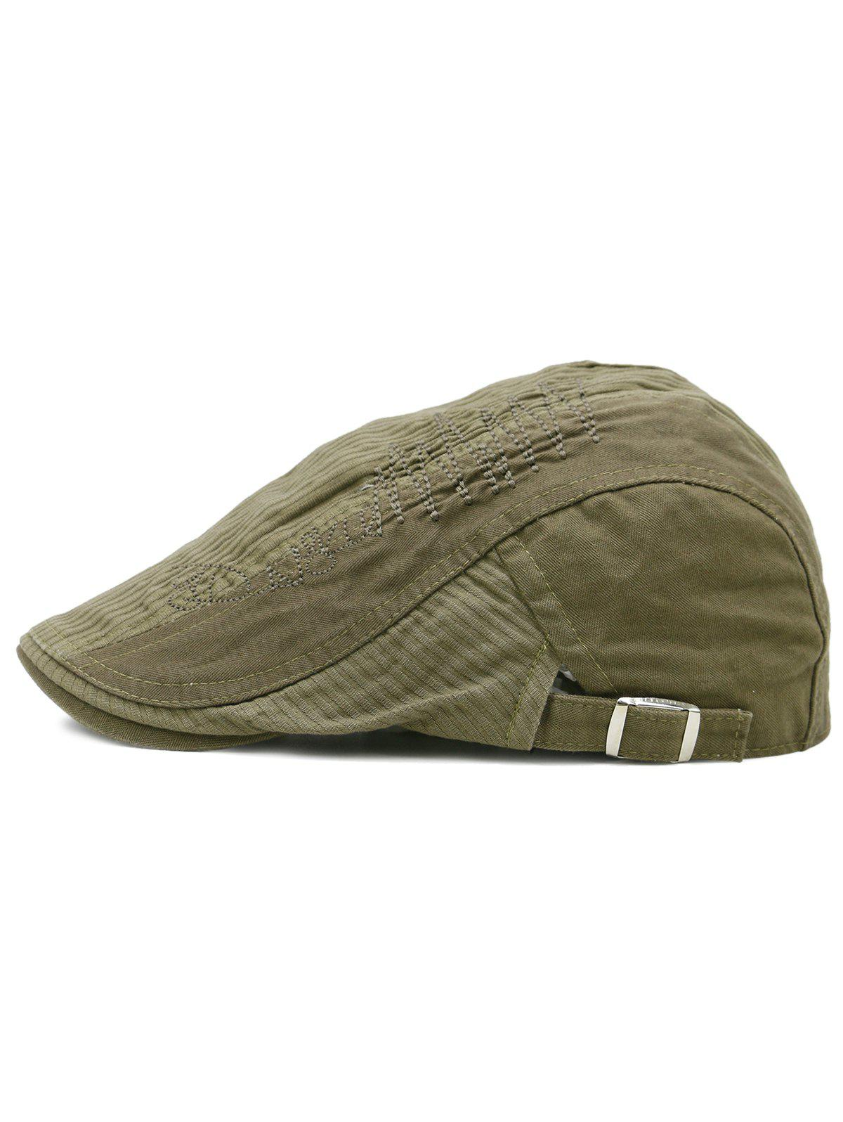 Line Embroidery Breathable Ivy Hat - MOCCASIN