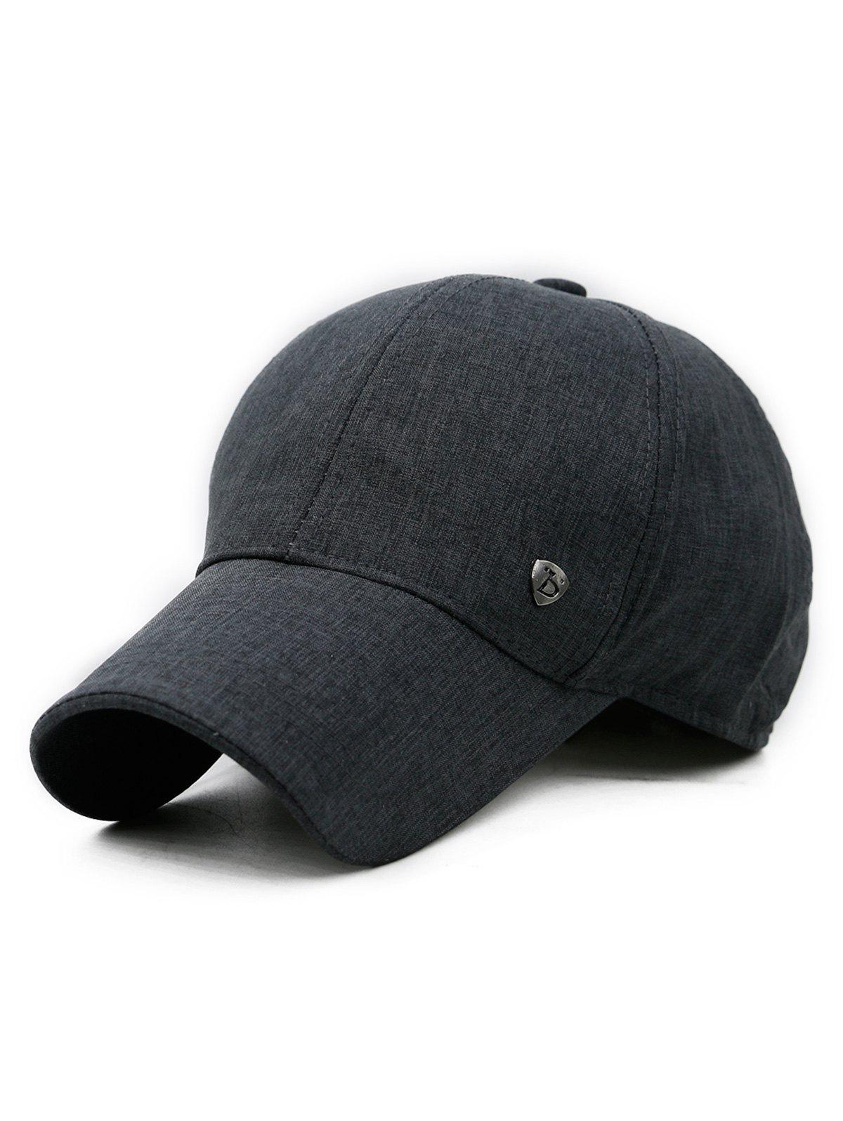 Solid Color Outdoor Sunscreen Hat - DARK SLATE BLUE