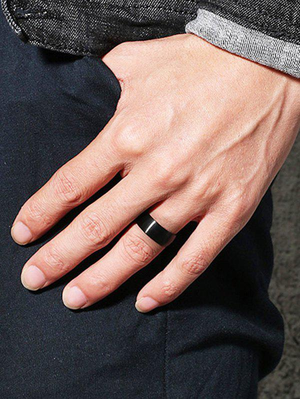 Simple Metal Finger Ring - BLACK 8