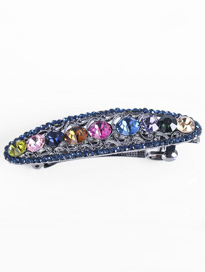 Sparkly Faux Crystal Rhinestoned Hairpin - multicolor A