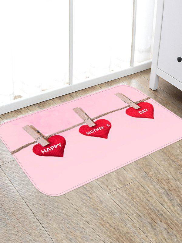 Happy Mother's Day Pattern Anti-skid Floor Rug - multicolor W16 INCH * L24 INCH