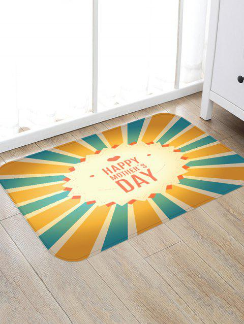 Happy Mother's Day Striped Pattern Floor Rug - multicolor W16 INCH * L24 INCH