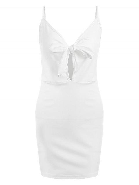 Mini Cut Out Bodycon Dress - WHITE S