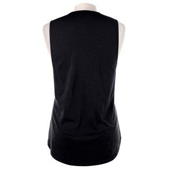 Ripped Tank Top - BLACK M