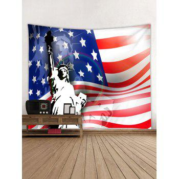 US Flag Statue of Liberty Print Tapestry Wall Art - multicolor W79 INCH * L59 INCH