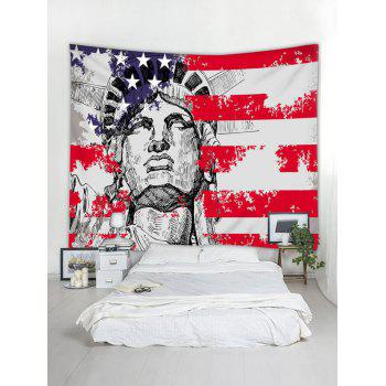 Statue of Liberty American Flag Print Tapestry Wall Art - multicolor W79 INCH * L59 INCH