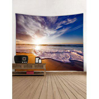 Beach Sunrise Print Tapestry Wall Art - multicolor W59 INCH * L51 INCH