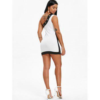 One Shoulder Club Mini Bodycon Dress - WHITE XL