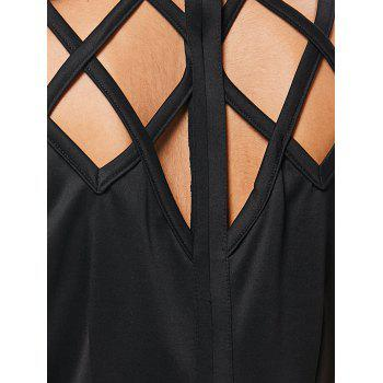 Sleeveless Cut Out Bodycon Dress - BLACK XL