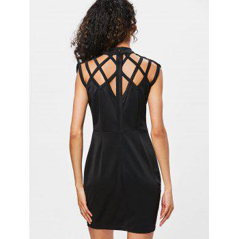 Sleeveless Cut Out Bodycon Dress - BLACK 2XL
