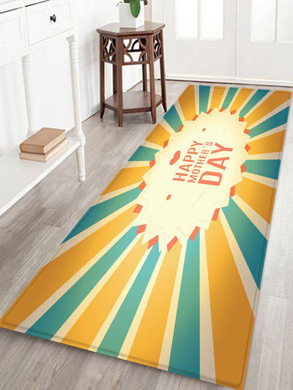 Happy Mother's Day Striped Pattern Floor Rug - multicolor W16 INCH * L47 INCH
