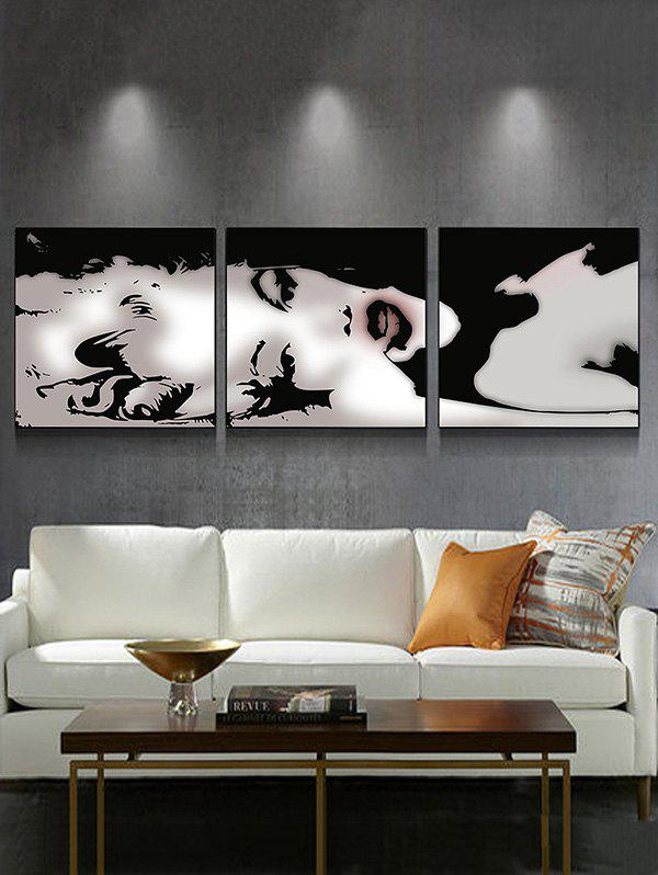Sexy Lady Canvas Black White Monroe Painting Poster Wall Art Picture 3Pcs - multicolor G 3PC:12*12 INCH( NO FRAME )