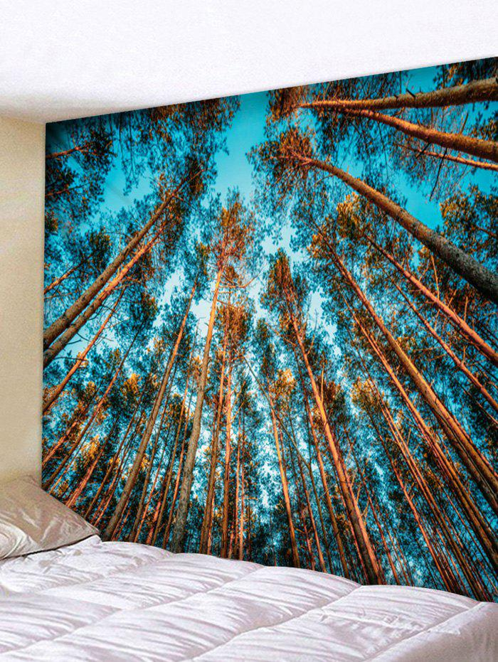 Forest Sky Print Tapestry Wall Art - multicolor W59 INCH * L59 INCH