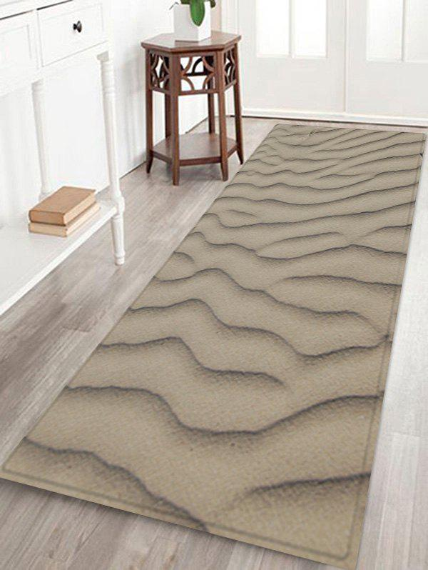 Desert Sand Line Pattern Anti-skid Floor Area Rug - GRAY CLOUD W24 INCH * L71 INCH