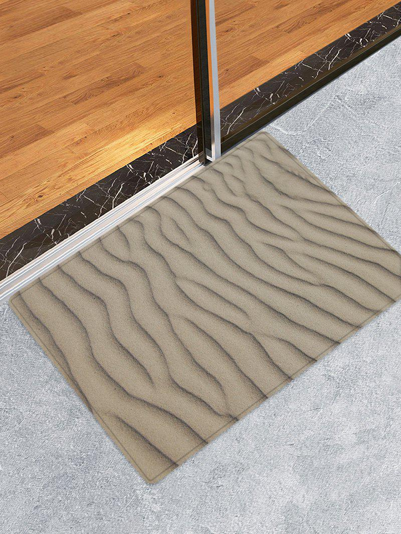 Desert Sand Line Pattern Anti-skid Floor Area Rug - GRAY CLOUD W16 INCH * L24 INCH