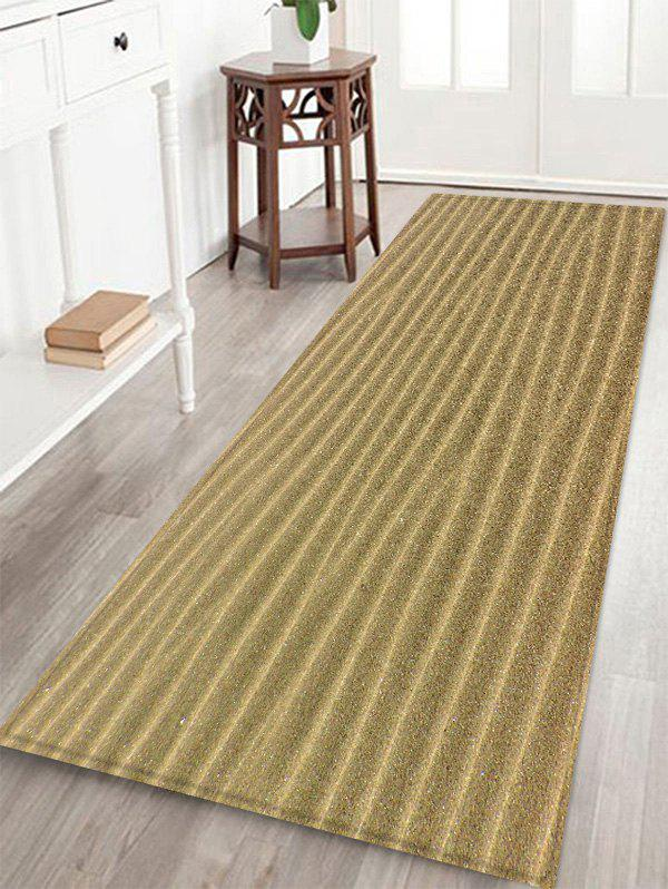 Desert Sand Lines Print Anti-skid Floor Area Rug - CAMEL BROWN W16 INCH * L47 INCH