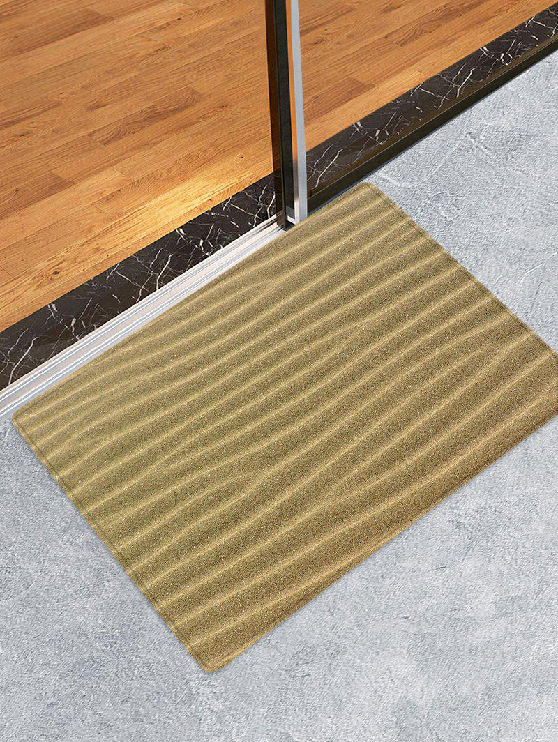 Desert Sand Lines Print Anti-skid Floor Area Rug - CAMEL BROWN W20 INCH * L31.5 INCH