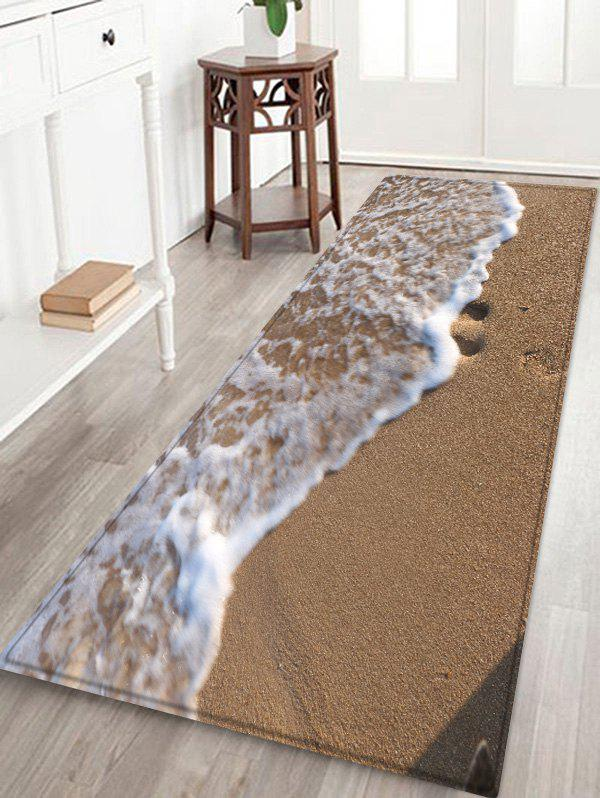 Sandbeach Wave Pattern Anti-skid Floor Area Rug sand shell starfish pattern floor area rug