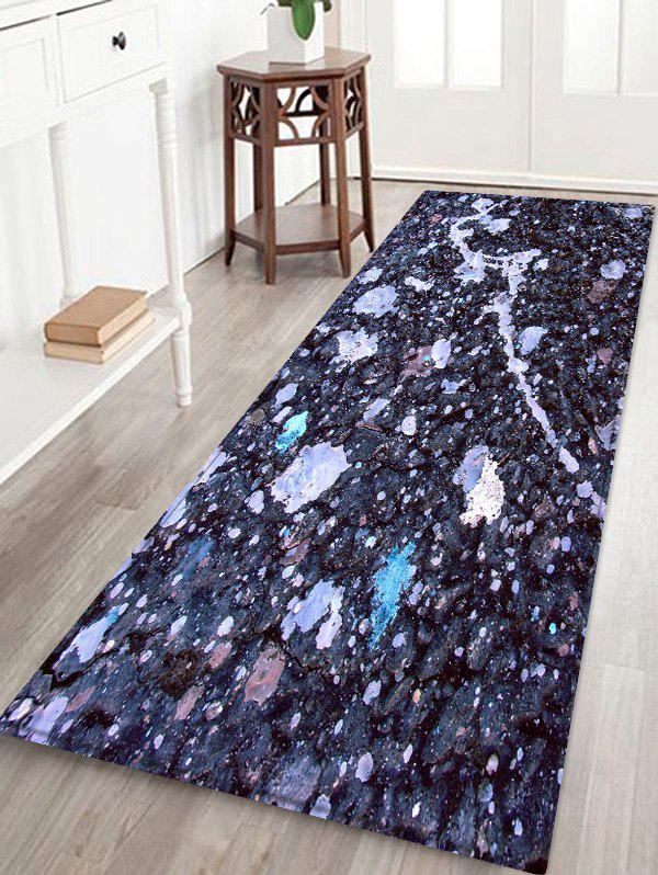 Mud Pattern Anti-skid Floor Area Rug - multicolor W24 INCH * L71 INCH