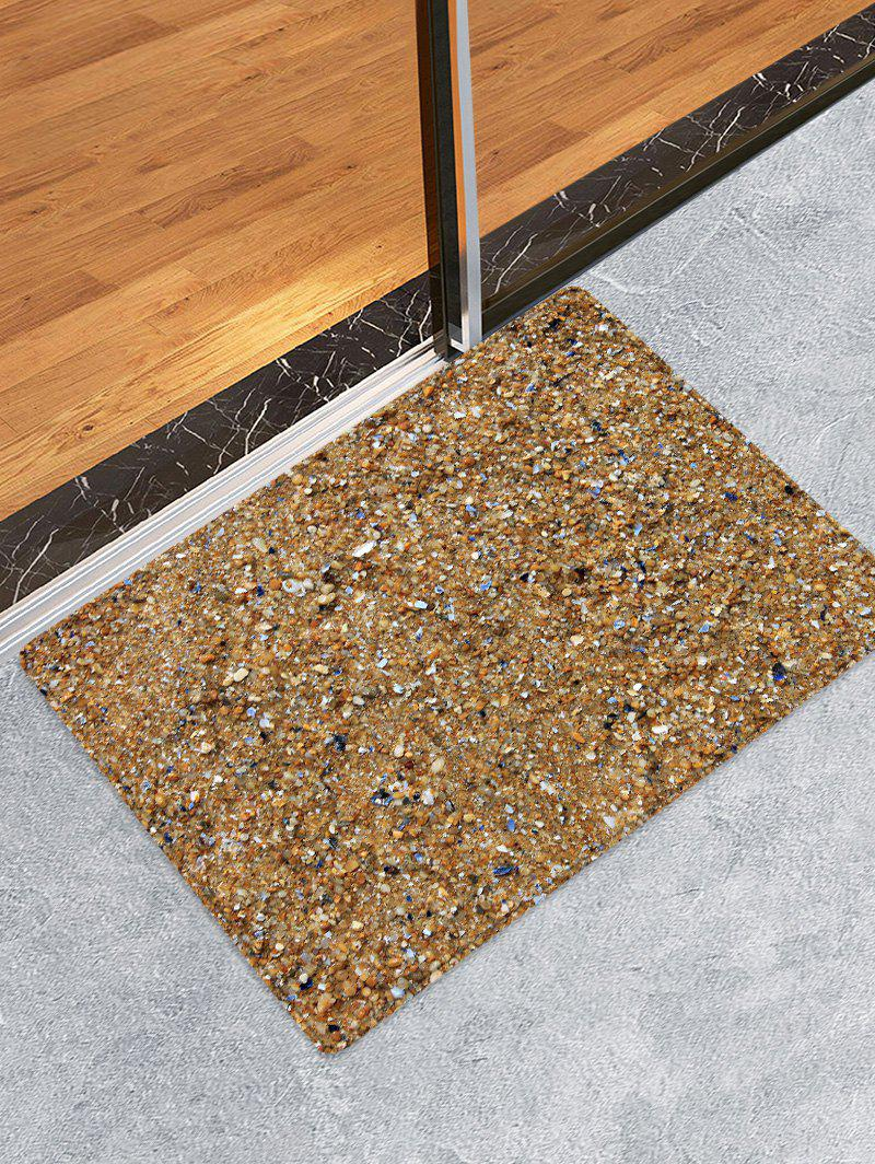 Beach Stones Pattern Anti-skid Floor Area Rug - LIGHT BROWN W20 INCH * L31.5 INCH