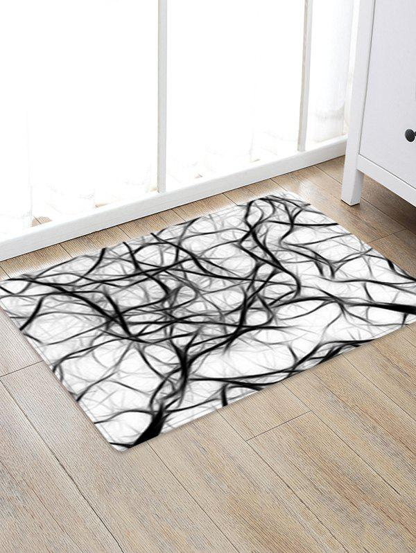 Abstract Art Pattern Anti-skid Floor Area Rug - BLACK W16 INCH * L24 INCH
