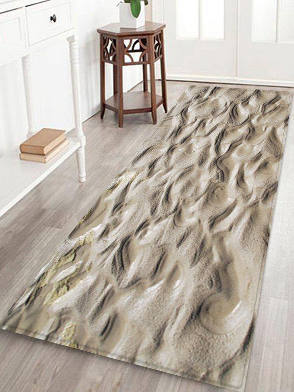 Indentations In The Mud Pattern Anti-skid Floor Area Rug - multicolor W16 INCH * L47 INCH