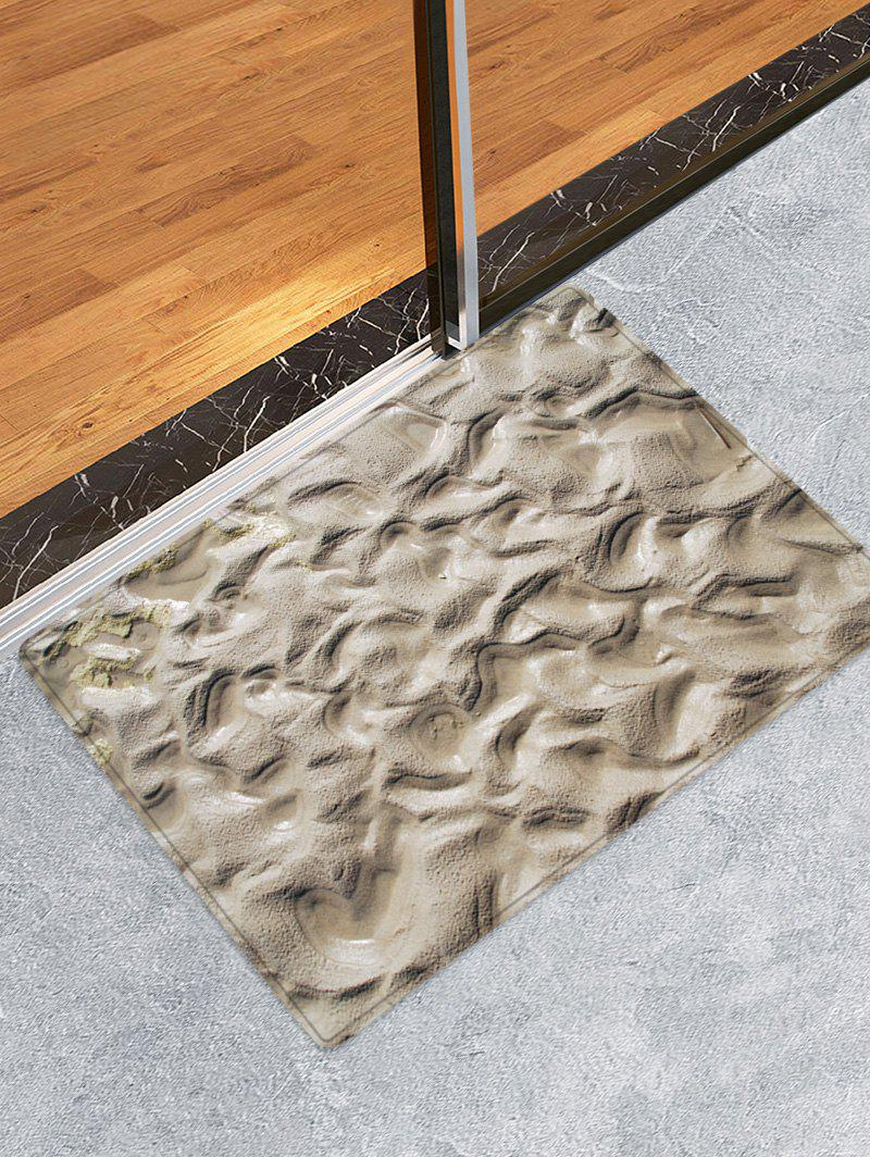 Indentations In The Mud Pattern Anti-skid Floor Area Rug - multicolor W16 INCH * L24 INCH