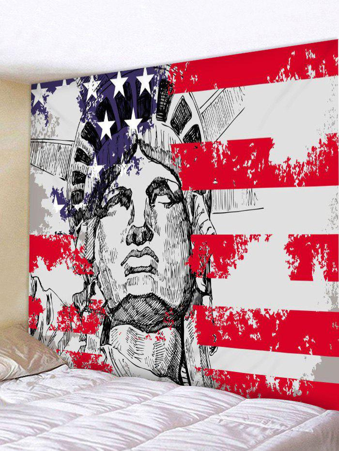 Statue of Liberty American Flag Print Tapestry Wall Art - multicolor W59 INCH * L51 INCH