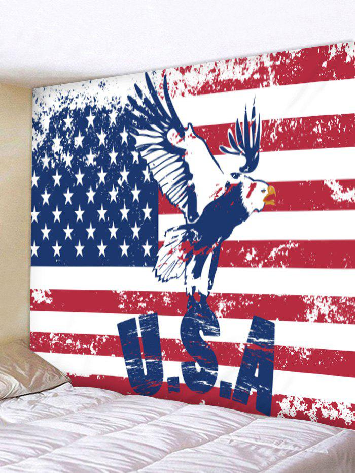 American Flag Eagle Print Tapestry Wall Art - multicolor W79 INCH * L71 INCH
