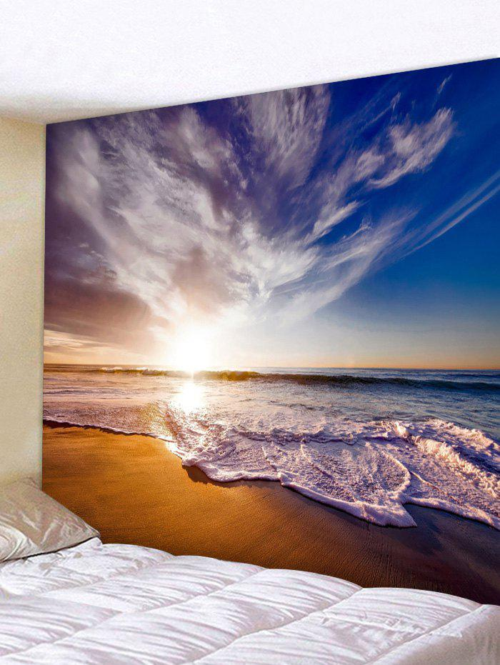 Beach Sunrise Print Tapestry Wall Art - multicolor W91 INCH * L71 INCH